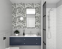 ŁAZIENKI - Średnia biała szara łazienka bez okna, styl tradycyjny - zdjęcie od 3deko