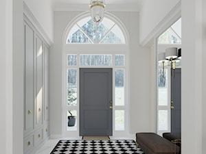 WILLA PARKOWA - Średni biały hol / przedpokój, styl tradycyjny - zdjęcie od 3deko