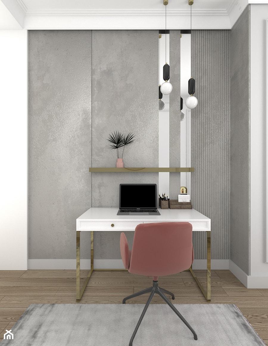 ELEGANCKI APARTAMENT NA ŻOLIBORZU - Biuro, styl nowoczesny - zdjęcie od 3deko