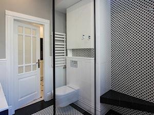 MIESZKANIE KRAKÓW - Średnia biała szara łazienka bez okna, styl nowojorski - zdjęcie od 3deko