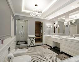 DOM W WILANOWIE - Duża łazienka w domu jednorodzinnym, styl klasyczny - zdjęcie od 3deko