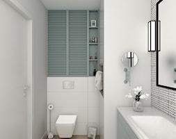 ŁAZIENKI - Mała biała szara łazienka, styl skandynawski - zdjęcie od 3deko - Homebook