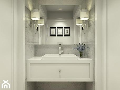 Aranżacje wnętrz - Łazienka: ŁAZIENKI - Mała biała łazienka bez okna, styl tradycyjny - 3deko. Przeglądaj, dodawaj i zapisuj najlepsze zdjęcia, pomysły i inspiracje designerskie. W bazie mamy już prawie milion fotografii!