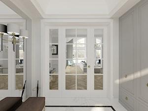 WILLA PARKOWA - Mały biały hol / przedpokój, styl nowojorski - zdjęcie od 3deko