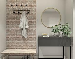 Mieszkanie w Warszawie - Średni szary hol / przedpokój, styl industrialny - zdjęcie od 3deko
