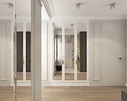 MIESZKANIE PRZY PARKU - Średni szary hol / przedpokój, styl nowoczesny - zdjęcie od 3deko