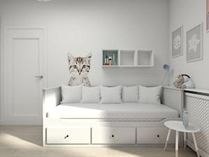 MIESZKANIE W STYLU NOWOJORSKIM - Mały biały pokój dziecka dla chłopca dla dziewczynki dla malucha dla nastolatka, styl skandynawski - zdjęcie od 3deko