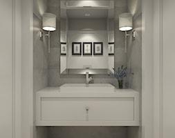 DOM W PIASECZNIE - Mała szara łazienka, styl klasyczny - zdjęcie od 3deko