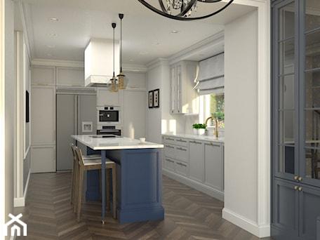 Aranżacje wnętrz - Kuchnia: Dom w Michałowicach styl amerykański - Kuchnia, styl klasyczny - 3deko. Przeglądaj, dodawaj i zapisuj najlepsze zdjęcia, pomysły i inspiracje designerskie. W bazie mamy już prawie milion fotografii!