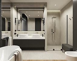 łazienka z płyt wielkoformatowych - zdjęcie od 3deko - Homebook