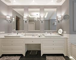 DOM W WILANOWIE - Duża łazienka bez okna, styl klasyczny - zdjęcie od 3deko