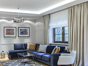 METAMORFOZA DOMU W MIĘDZYLESIE - Średni szary salon, styl klasyczny - zdjęcie od 3deko