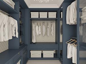 REZYDENCJA PARKOWA - Średnia zamknięta garderoba oddzielne pomieszczenie, styl nowojorski - zdjęcie od 3deko