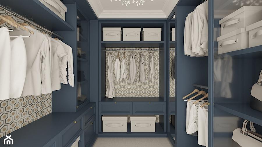 Aranżacje wnętrz - Garderoba: REZYDENCJA PARKOWA - Średnia zamknięta garderoba oddzielne pomieszczenie, styl nowojorski - 3deko. Przeglądaj, dodawaj i zapisuj najlepsze zdjęcia, pomysły i inspiracje designerskie. W bazie mamy już prawie milion fotografii!