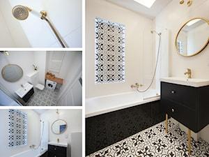 Kawalerka I - Średnia łazienka w bloku w domu jednorodzinnym bez okna, styl nowoczesny - zdjęcie od residence_fotografia_wnetrz