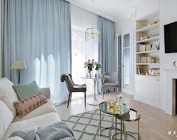 Saska Kępa - Mały biały salon, styl glamour - zdjęcie od MAKAO home