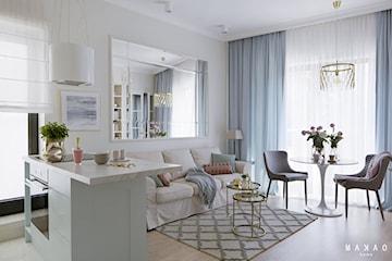 Projekt dwupokojowego mieszkania o pow. 47 mkw w stylu rodem z Manhattanu
