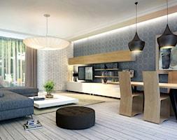 Nowoczesny salon w stylu skandynawskim - zdjęcie od Monika Kalbara