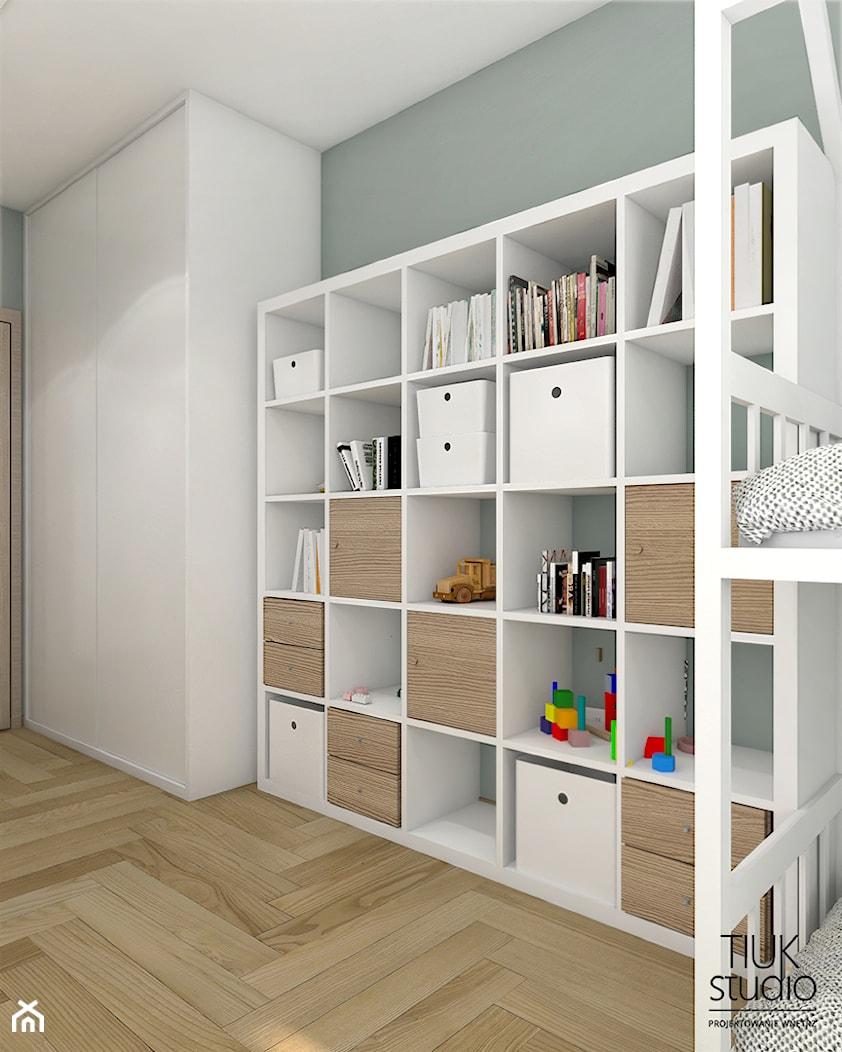 POKÓJ W BLOKU KUBY I MICHAŁA / Chorzów - Pokój dziecka, styl skandynawski - zdjęcie od TIUK Studio - Homebook