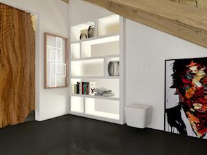 DOM Z DUSZĄ / Osięciny - Średnia biała łazienka na poddaszu w domu jednorodzinnym bez okna, styl industrialny - zdjęcie od TIUK Studio