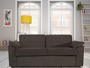Czarna sofa w skandynawskich wnętrzach