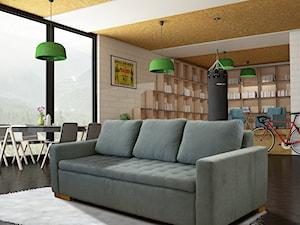 Salon z sofą w roli głównej