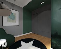 NYC - Duży szary zielony pokój dziecka dla chłopca dla nastolatka, styl nowojorski - zdjęcie od Pracownia Projektowania | Daria Ciuńczyk-Duda