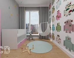 dziecięco / młodzieżowo - Średni biały szary pokój dziecka dla dziewczynki dla niemowlaka, styl minimalistyczny - zdjęcie od Pracownia Projektowania | Daria Ciuńczyk-Duda