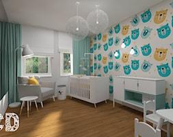 dziecięco / młodzieżowo - Średni szary pokój dziecka dla chłopca dla dziewczynki dla ucznia dla niemowlaka, styl nowoczesny - zdjęcie od Pracownia Projektowania | Daria Ciuńczyk-Duda