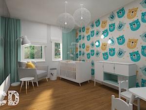 dziecięco / młodzieżowo - Średni szary pokój dziecka dla chłopca dla dziewczynki dla ucznia dla niemowlaka, styl nowoczesny - zdjęcie od Pracownia Projektowania   Daria Ciuńczyk-Duda