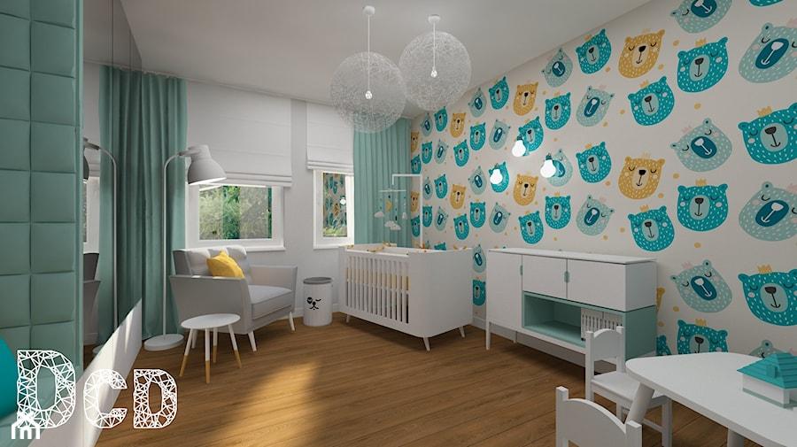 Aranżacje wnętrz - Pokój dziecka: dziecięco / młodzieżowo - Średni szary pokój dziecka dla chłopca dla dziewczynki dla ucznia dla niemowlaka, styl nowoczesny - Pracownia Projektowania | Daria Ciuńczyk-Duda. Przeglądaj, dodawaj i zapisuj najlepsze zdjęcia, pomysły i inspiracje designerskie. W bazie mamy już prawie milion fotografii!