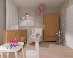 Apartament nad skarpą - Średni szary pokój dziecka dla dziewczynki dla niemowlaka, styl nowoczesny - zdjęcie od Pracownia Projektowania | Daria Ciuńczyk-Duda