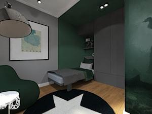 NYC - Średni szary zielony pokój dziecka dla chłopca dla nastolatka, styl nowojorski - zdjęcie od Pracownia Projektowania | Daria Ciuńczyk-Duda