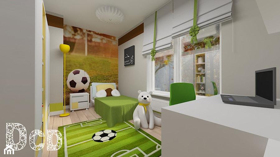 dziecięco / młodzieżowo - Średni szary pokój dziecka dla chłopca dla dziewczynki dla ucznia dla malucha dla nastolatka, styl nowoczesny - zdjęcie od Pracownia Projektowania | Daria Ciuńczyk-Duda