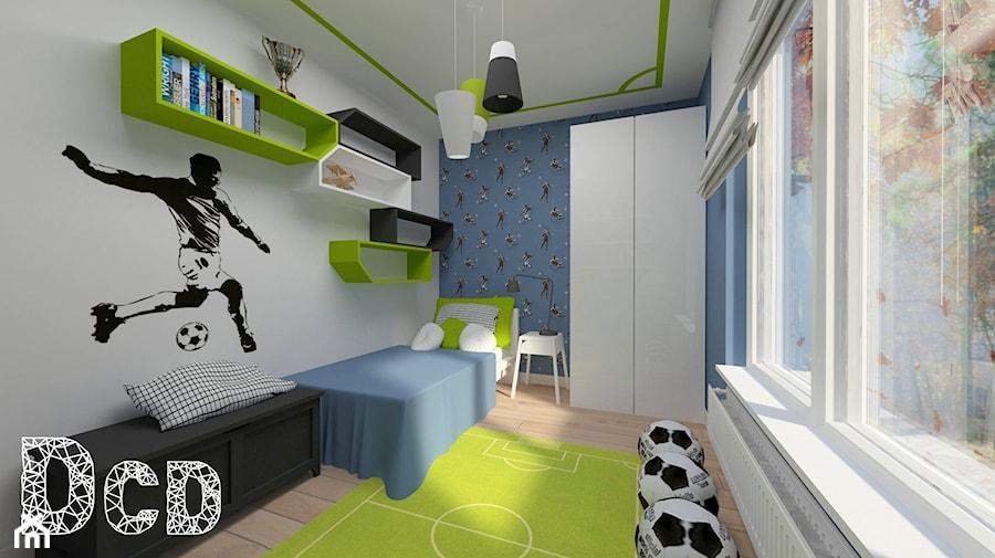 dziecięco / młodzieżowo - Średni szary niebieski pokój dziecka dla chłopca dla dziewczynki dla malucha, styl nowoczesny - zdjęcie od Pracownia Projektowania | Daria Ciuńczyk-Duda