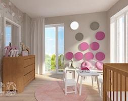 Apartament nad skarpą - Duży szary pokój dziecka dla dziewczynki dla niemowlaka, styl nowoczesny - zdjęcie od Pracownia Projektowania | Daria Ciuńczyk-Duda
