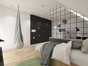 dom.Reda - Duży biały czarny pokój dziecka dla chłopca dla dziewczynki dla ucznia dla nastolatka, styl nowoczesny - zdjęcie od ip-design