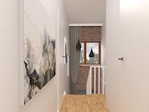 Projekt domu 140m2 - Mały szary hol / przedpokój, styl skandynawski - zdjęcie od Skrzypczynski_pracownia
