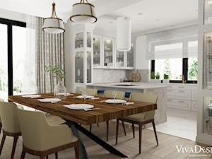 dom w stylu klasycznym - Jadalnia, styl klasyczny - zdjęcie od Viva Design Pracownia Projektowania Wnętrz