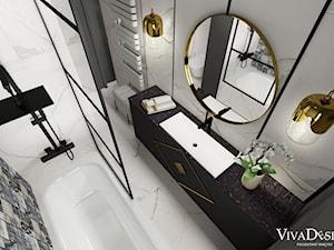 Elegancka łazienka w mocnym kontraście