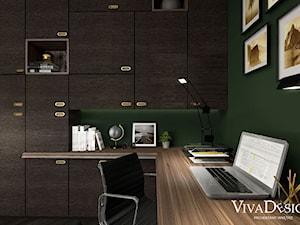 Gabinet zielony - zdjęcie od Viva Design Pracownia Projektowania Wnętrz