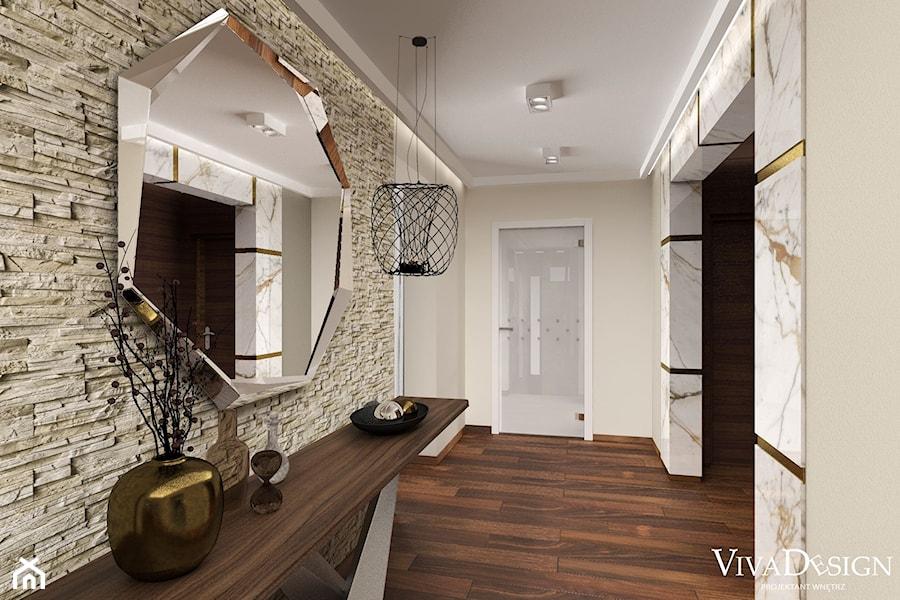 Dom w kolorach jesieni - Średni szary hol / przedpokój, styl nowoczesny - zdjęcie od Viva Design Pracownia Projektowania Wnętrz