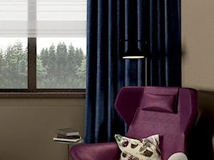 Dom w kolorach jesieni - Mała otwarta szara jadalnia jako osobne pomieszczenie, styl nowoczesny - zdjęcie od Viva Design Pracownia Projektowania Wnętrz