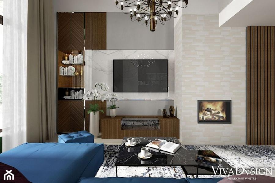 Dom pod Leżajskiem - Salon, styl nowoczesny - zdjęcie od Viva Design Pracownia Projektowania Wnętrz