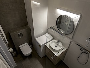 Jaglana V   Gdańsk - Mała łazienka w bloku w domu jednorodzinnym bez okna, styl minimalistyczny - zdjęcie od Pracownia ARD