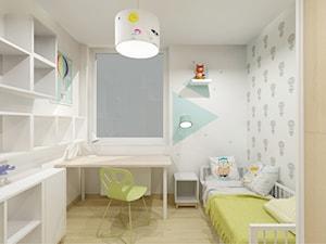 18'36 | Gdańsk - Mały szary pokój dziecka dla chłopca dla dziewczynki dla ucznia dla malucha dla nastolatka, styl skandynawski - zdjęcie od Pracownia ARD