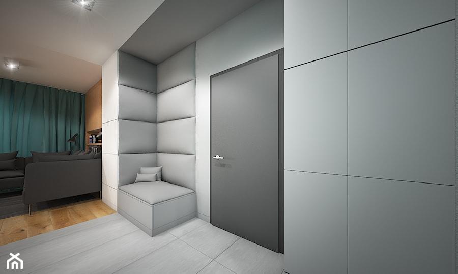 Wnętrze mieszkania w Warszawie - Średni biały hol / przedpokój, styl nowoczesny - zdjęcie od Tu architekci