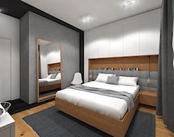 Wnętrze mieszkania w Warszawie - Średnia biała czarna szara łazienka, styl nowoczesny - zdjęcie od Tu architekci - Homebook