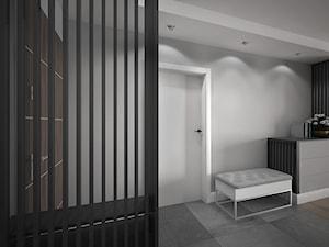 Wnętrze mieszkania na Radogoszczu - Mały szary hol / przedpokój, styl nowoczesny - zdjęcie od Tu architekci