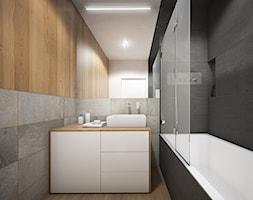 Wnętrze mieszkania w Warszawie - Mała biała łazienka bez okna, styl nowoczesny - zdjęcie od Tu architekci - Homebook